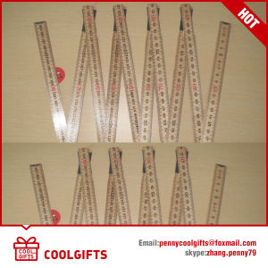 Stationery for 2m 10 Folds Wooden Folding Ruler pictures & photos