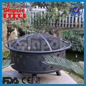 Popular Basket Fire Pit with BBQ Grill (SP-FT069) pictures & photos