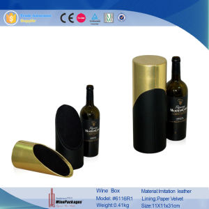 Wholesale Round Tube Special Custom Champagne Wine Box (6116R1) pictures & photos