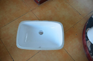 Porcelain Retangle Wash Sink for Bathroom Construction (SN014) pictures & photos