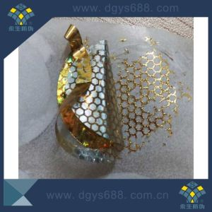 Gold Tamper Evident Honeycomb Hologram Label Printing pictures & photos