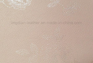 Beautiful Printed Pattern Microfiber Leather for Decoration (FD28)