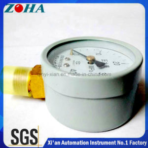 Vacuum Pressure Gauge with Brass Connector pictures & photos