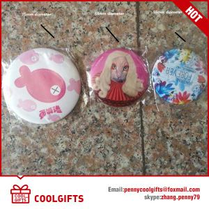 2016 Ceramic Folding Leather Compact Cosmetic Mirror for Promotion Gift pictures & photos