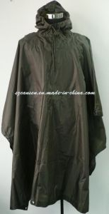 Custom Functional Dark Green Rain Poncho pictures & photos