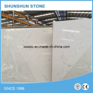 Beautiful White Quartz Stone Kitchen Countertop for Sale pictures & photos