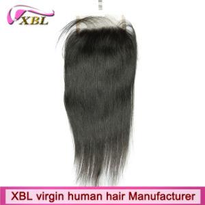Virgin Human Hair 4X4 Top Lace Closure pictures & photos