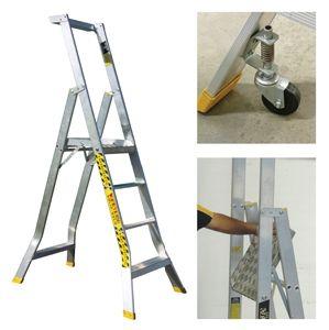 Aluminium Folding Adjustable Platform Step Ladder pictures & photos