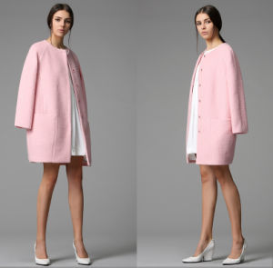 Newest Fashion Design Long Winter Women′s Coat pictures & photos