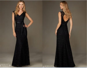 2016 Sexy Black Lace Evening Dress, Bridesmaid Dress, Tailored