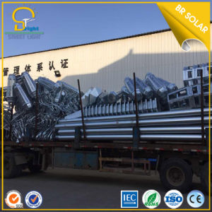 Hot DIP Galvanized Street Light Pole with Double Arms for Light pictures & photos
