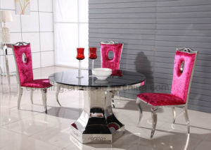 Baroque Design Round Dining Table with Top Glass pictures & photos