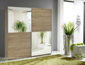 New Fashion Design Sliding Mirror Door Wardrobe (HF-EY0807) pictures & photos