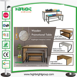 Nesting MDF Wooden Promotional Table Desk for Clothing Store pictures & photos