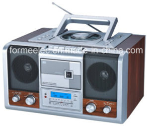 Portable DVD CD MP3 Boombox with Cassette Player pictures & photos