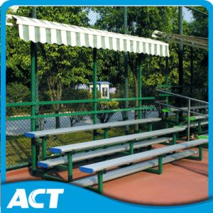 Portable Outdoor Metal Gym Bleachers with Retractable Canopy for Football pictures & photos