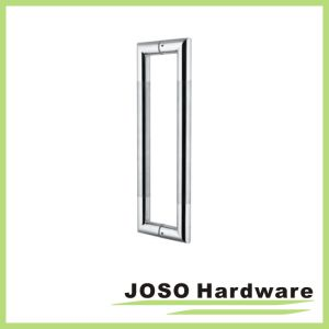 Polish and Satin Stainless Steel Glass Door Handle (SHD06) pictures & photos