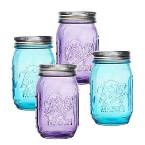 480ml Colored Fruit Vinegar Glass Ball Mason Jar with Cover pictures & photos