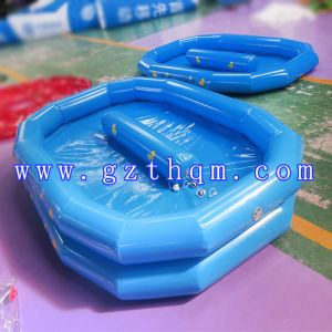 Outside Inflatable Water Games, 0.9mm PVC Tarpaulin Deep Blue Inflatable Swimming Pool pictures & photos