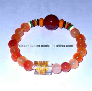 Natural Crystal Gemstone Carnelian Red Agate Beaded Bracelet pictures & photos