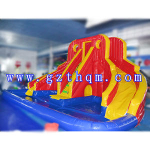 High Quality PVC Inflatable Slide Pool/Funny Giant Inflatable Water Slide for Kids and Adults pictures & photos