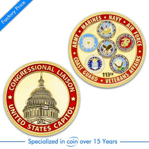 OEM Customized Police/Challenge/Souvenir/Award/Commemorate Gold Coin pictures & photos