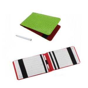 PU Leather Golf Scorecard Holder Black/Green