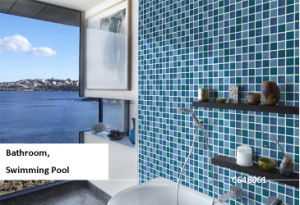 Glue Point Dark Blue Porcelain Mosaic for Wall and Pool (C648028) pictures & photos