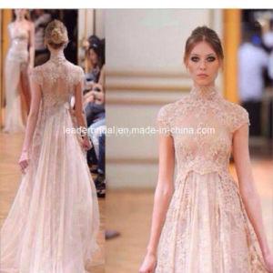 Blush Lace Party Cocktail Dresses Nude Ellesab Prom Evening Dress Es2018 pictures & photos
