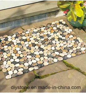 Black/White/Mixed Color Handmade Floor Stone Mat pictures & photos