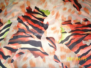 Silk Viscose Satin Burn out with Printing Fabric for Ladies Fshion pictures & photos