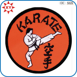 Round Shape Custom Karate Logo Embroidery Badge pictures & photos