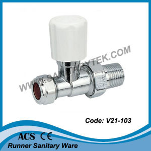 Chrome Plated Straight Radiator Valve (V21-103) pictures & photos