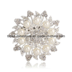 Wedding Bridal Rhinestone Round Flower Pin Brooch (TB-035) pictures & photos