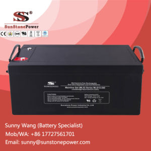 12V 260ah Maintenance Free Gel Battery Solar Power Battery pictures & photos