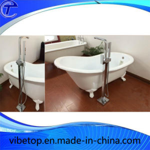 Euro-Style Chrome Plated Free Standing Bathtub Faucet pictures & photos