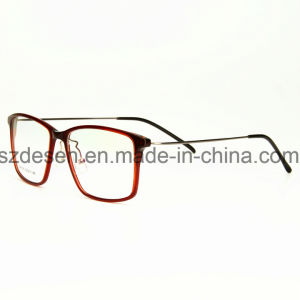 Custom Laser Logo Clear Lens Plastic Steel Optical Frames pictures & photos