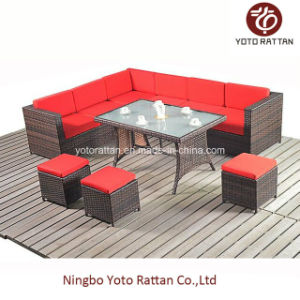 Steel Table Corner Sofa Set 1003 Red pictures & photos