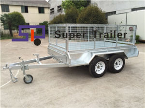 9X5 Tandem Axles Heavy Duty Galvanised Box Trailer with Cage