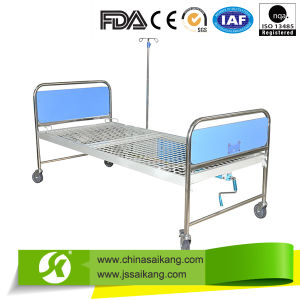 Manual Bed Single Crank with Steel Mesh Bed Platform pictures & photos