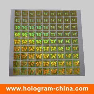 Golden Tamper Proof Pet Security Hologram Label pictures & photos