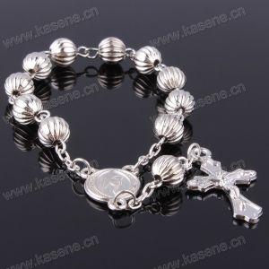 Fast Delivery Hn15D110 Catholic Gray Plastic Rosary Bracelet