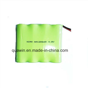 4s 4.8V 1200mAh AA NiMH Rechargeable Battery Pack pictures & photos