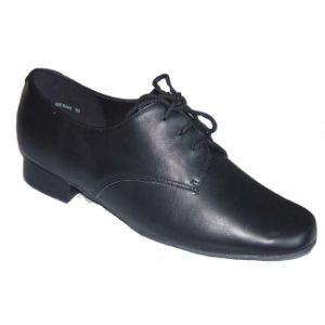 Black Leather Men′s Ballroom Dance Shoes pictures & photos