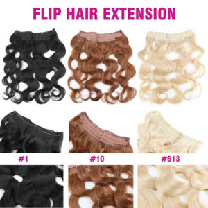 Flip in Brazilian Human Hair Extension pictures & photos