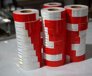 ECE 104r Approved Red-White Safety Reflective Tape, Camper/Trailer Outline Tape (CTP-200) pictures & photos