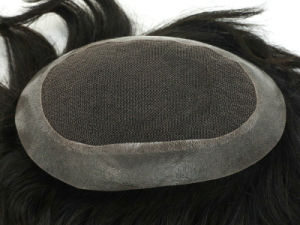 Human Hair Replacement 100% Indian Human Hair Toupee pictures & photos
