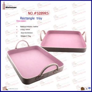 Rectangle Useful Simple Easy Carried Pink Tray (5289R5) pictures & photos