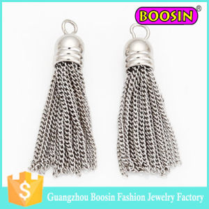 Hot Sale Copper Stainless Steel Dangle Silver Tassel Charm pictures & photos
