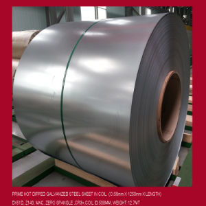 0.57X1250mm, Dx51d, Z140, Hot Dipped Galvanized Steel Coil